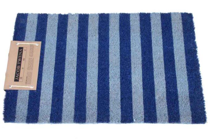 שטיח כניסה כחול ותכלת לבית