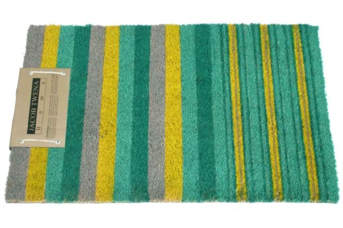 שטיח כניסה צהוב ירוק לסף