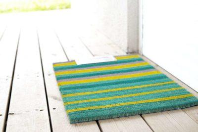 שטיח כניסה צהוב ירוק