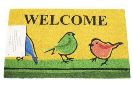 שטיח כניסה ציפורים צהוב