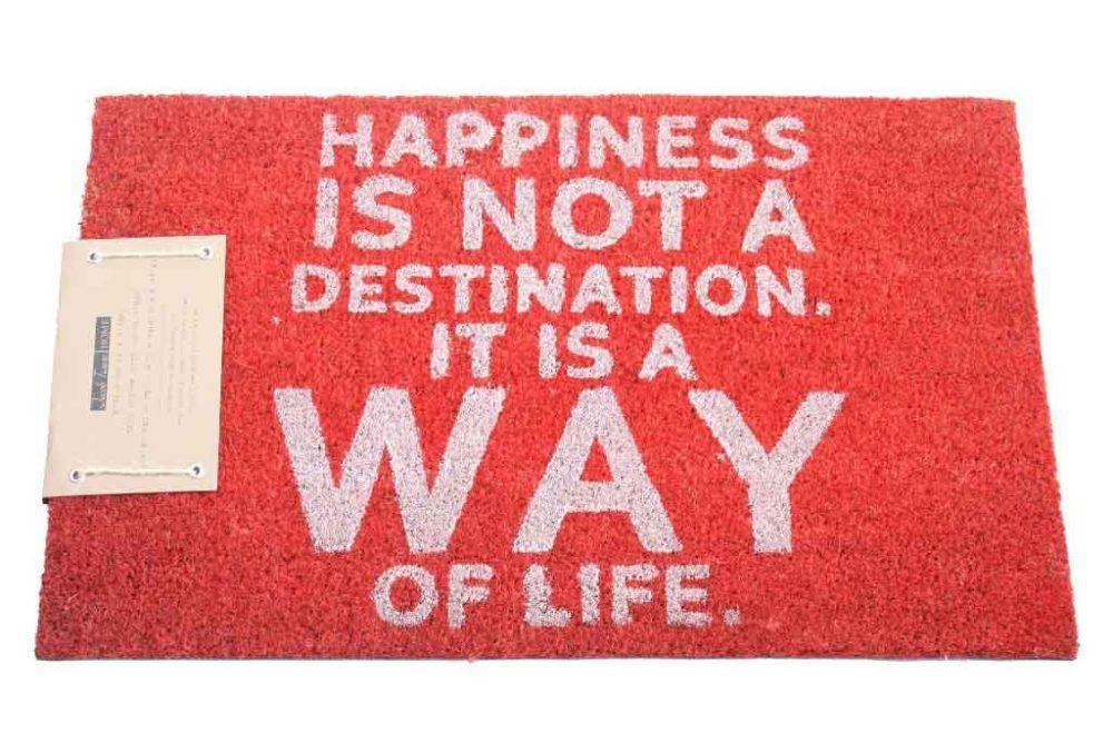 שטיח כניסה happiness