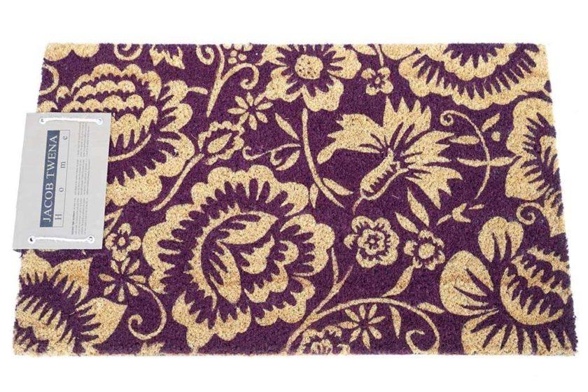 שטיח פרחוני סגול