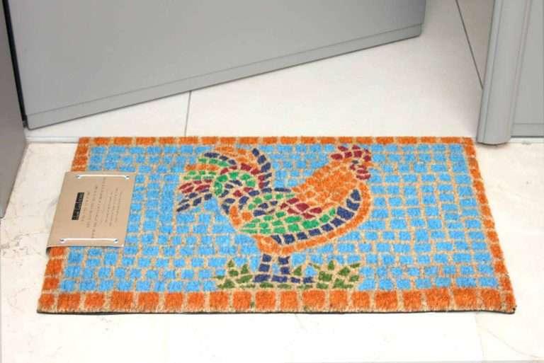 שטיח כניסה תרנגול פסיפס מהמם