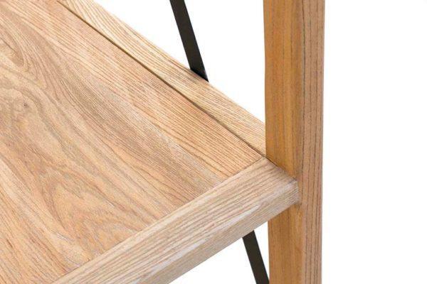 סולם מדפים פתוח מעץ וברזל