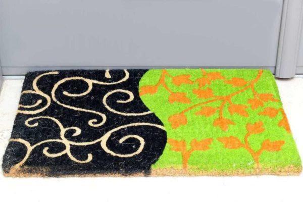 שטיח כניסה ירוק שחור