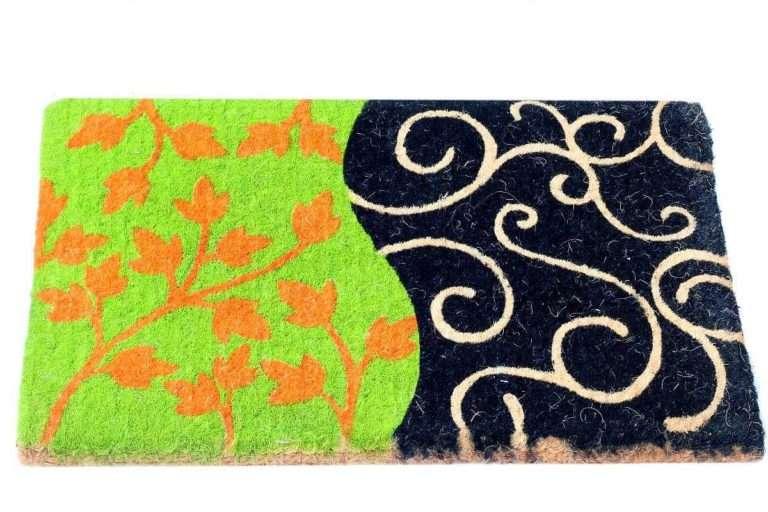 שטיח סף עבה ירוק שחור