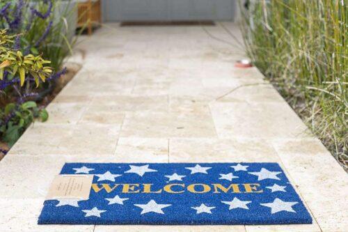 שטיח כוכבים לבנים לכניסה