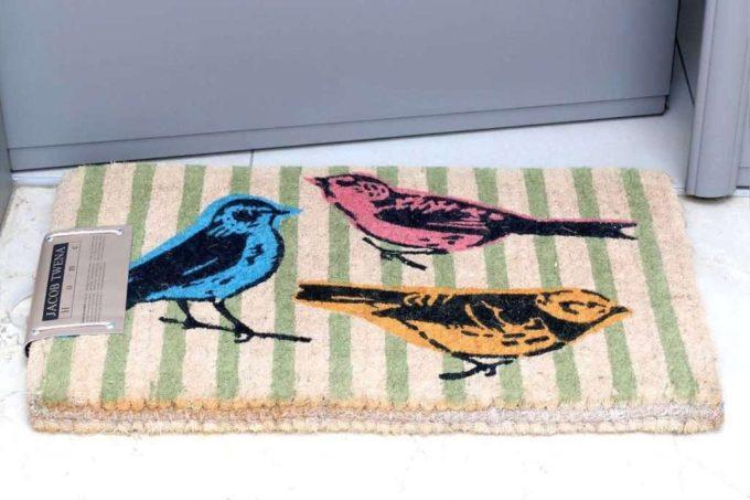 שטיח כניסה עבה ציפורים