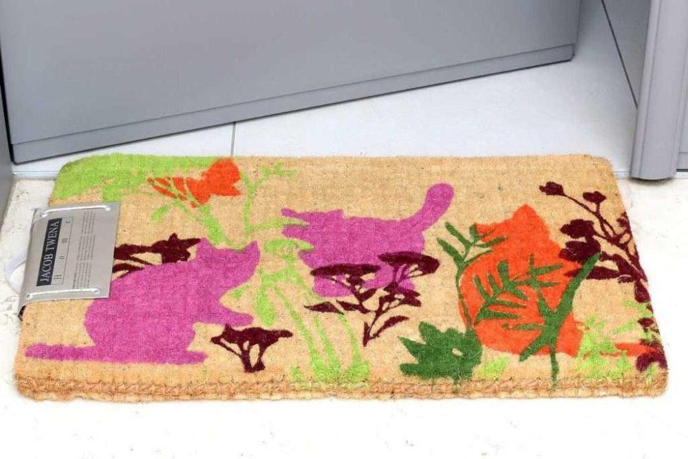 שטיח כניסה עבה ציור חתול