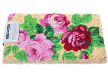 שטיח סף עבה פרחוני