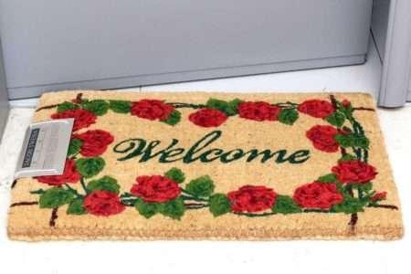 שטיח סף עבה שושנים אדומות
