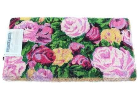 שטיח כניסה עבה פרחים