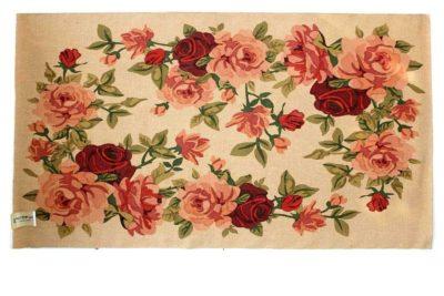 שטיח שושנים טבעי חבל טבעי