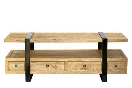 מזנון טלוויזיה עץ וברזל