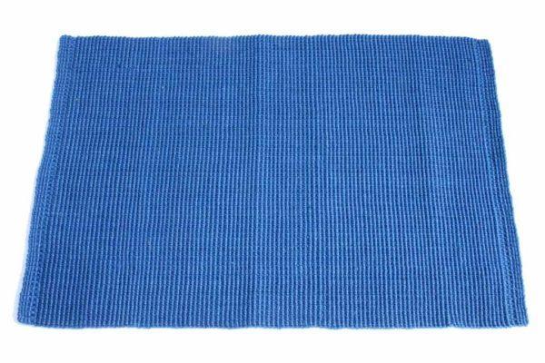שטיח חבל כחול למטבח