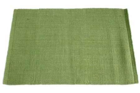 שטיח חבל ירוק למטבח