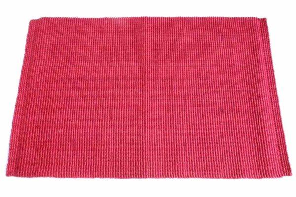 שטיח חבל בצבע אדום