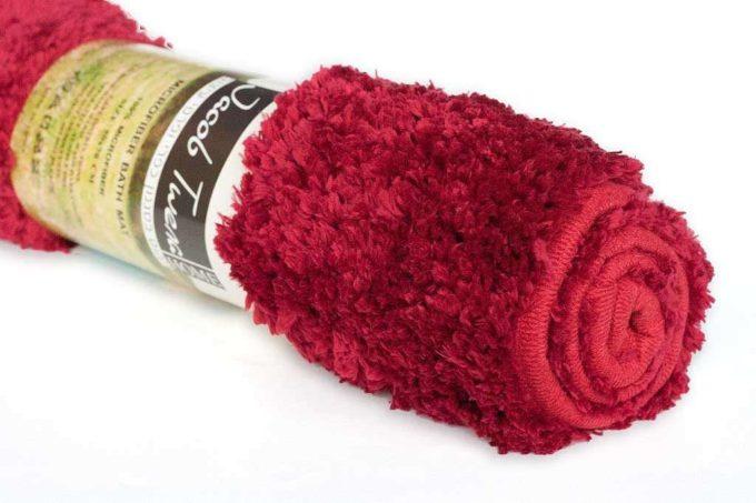 שטיח אמבט פוף אדום נעים