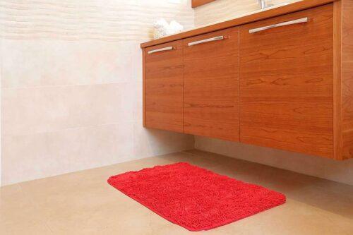 שטיח אמבט שאגי אדום איכותי