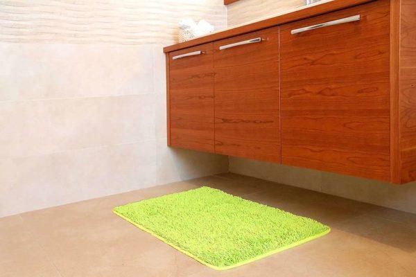 שטיח אמבט שאגי ירוק איכותי
