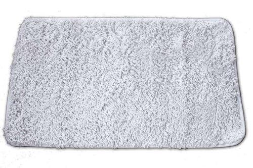 שטיח אמבט שאגי לבן