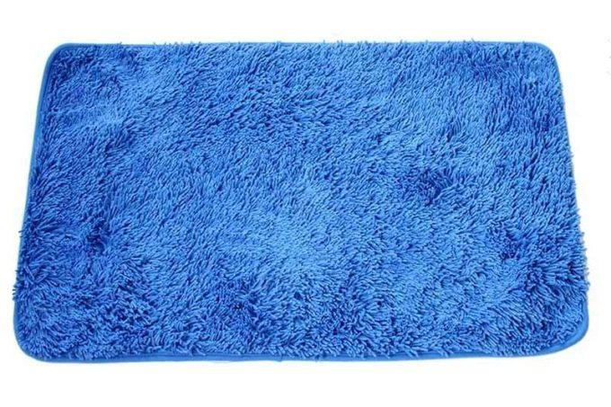 שטיח אמבט שאגי כחול