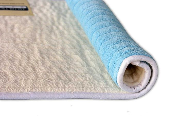 שטיח אמבט דו צדדי תכלת