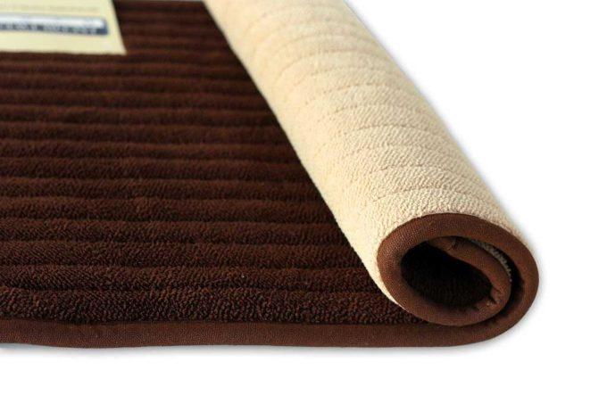 שטיח אמבטיה דו צדדי חום - בז'