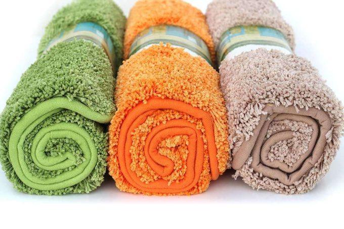 שטיח אמבטיה חום ירוק וכתום