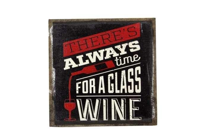 שלט שחור מעוצב יין