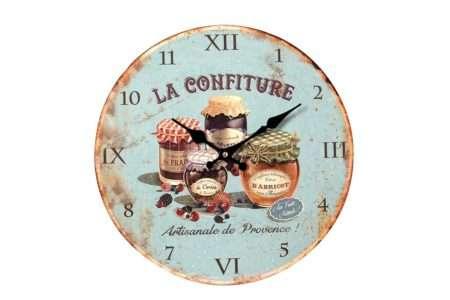 שעון עגול תכלת למטבח