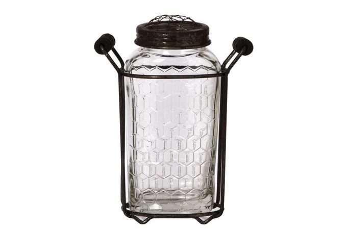 עששית זכוכית לנר