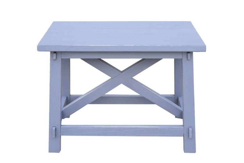 ספסל מעוצב כחול עתיק