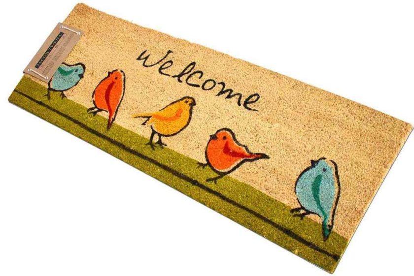 שטיח ארוך ציפורים לדלת