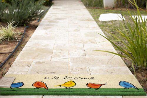 שטיח ארוך ציפורים לכניסה