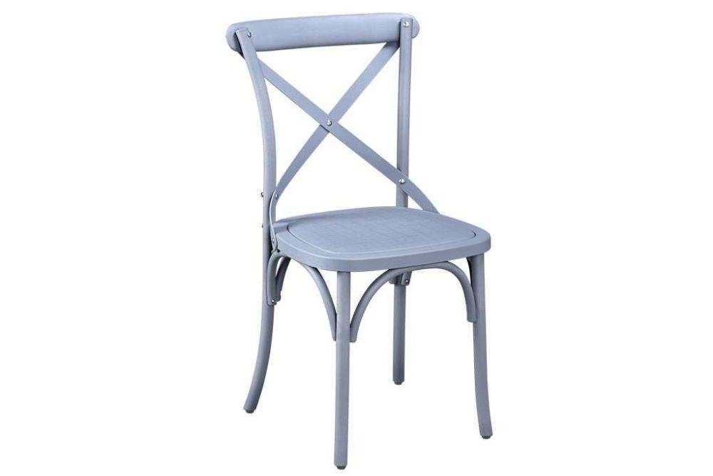 כסא לגינה בצבע אפור