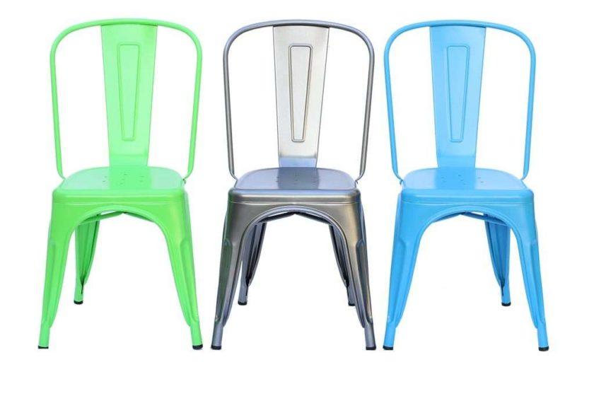 כסא מתכת כחול לשולחן אוכל