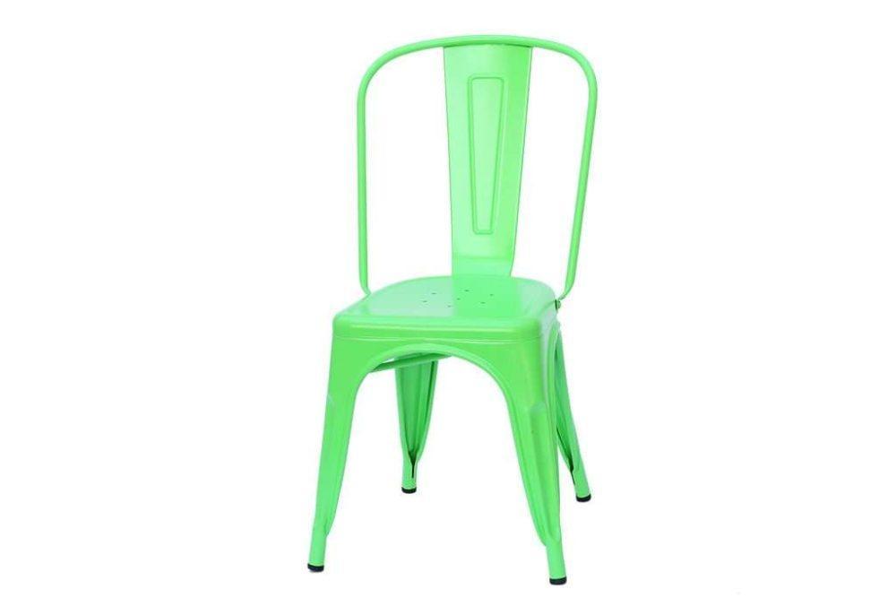 כסא מתכת ירוק לפינת אוכל