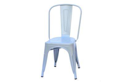 כסא אפור מתכת לשולחן