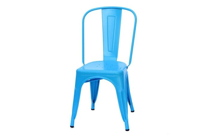 כסא מתכת כחול