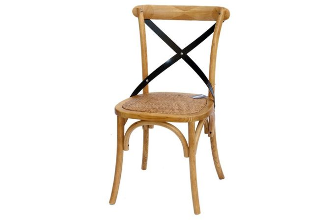 כסא אוכל כפרי מעץ מלא