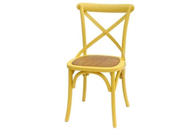 כסא צהוב חרדל