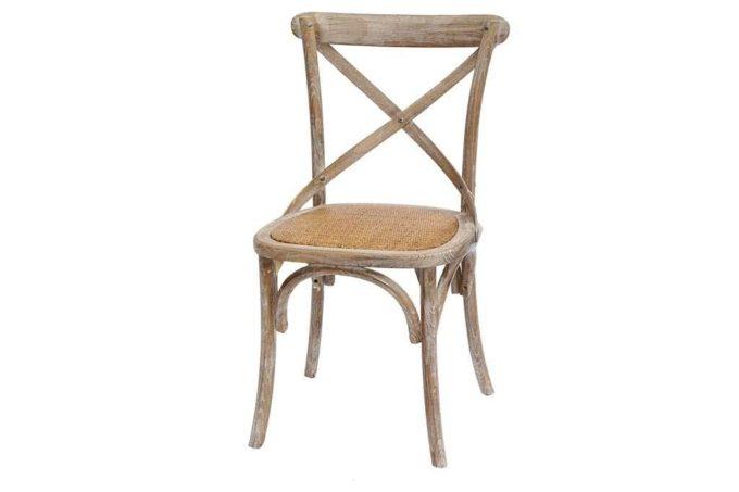 כסא איקס חום מעץ מלא