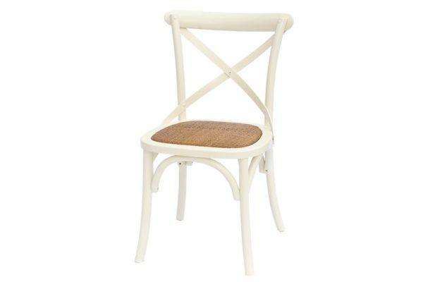 כסא אוכל שמנת מעץ מלא