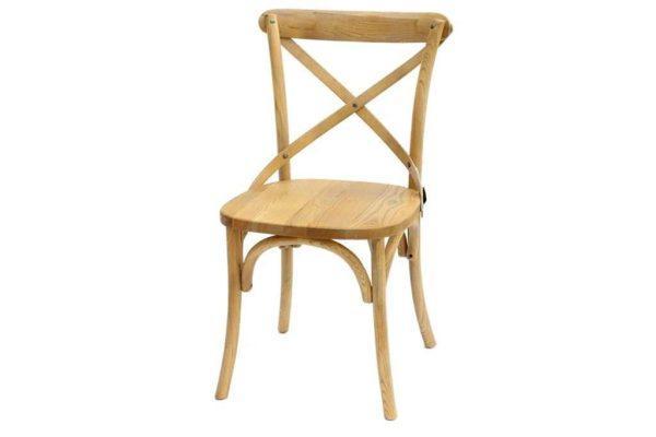 כסא אוכל אלון מלא