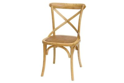 כסא אגוז בהיר מעץ מלא