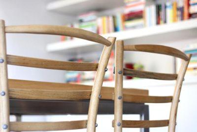 כסא כפרי מקורי עץ מלא