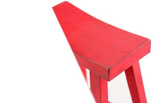 כיסא בר אדום מעץ מלא