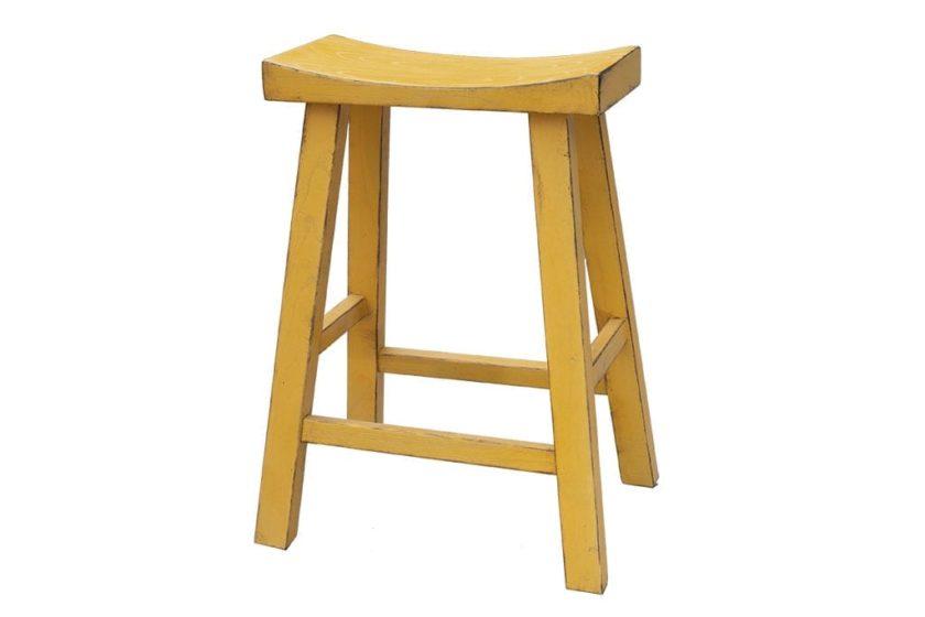 כסא בר צהוב