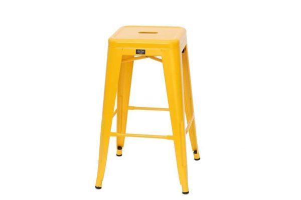 כסא בר מתכת צהוב